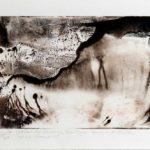 Abyme de lumière - Monotype, encre à l'huile - 19,5 cm x 14 cm