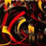 Abracadabra - Encre et acrylique - 60 cm x 60 cm