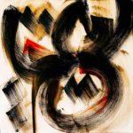 Sultane - Encre et acrylique - 60 cm x 60 cm